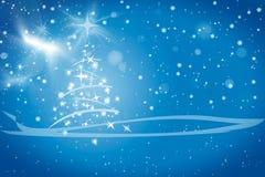 De abstracte blauwe achtergrond van de winterKerstmis Royalty-vrije Stock Fotografie