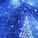 De abstracte blauwe achtergrond van de winterkerstmis Royalty-vrije Stock Afbeelding