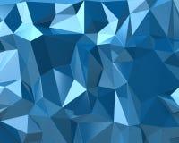 De abstracte blauwe achtergrond van de driehoekstextuur vector illustratie