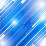 De abstracte blauwe achtergrond van het technologie nieuwe toekomstige concept Stock Afbeelding