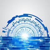 De abstracte blauwe achtergrond van het technologie nieuwe toekomstige concept Royalty-vrije Stock Foto