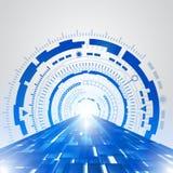 De abstracte blauwe achtergrond van het technologie nieuwe toekomstige concept Stock Foto's