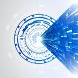 De abstracte blauwe achtergrond van het technologie nieuwe toekomstige concept Royalty-vrije Stock Afbeeldingen