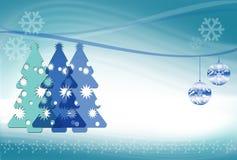 De abstracte Blauwe Achtergrond van Kerstmis Stock Afbeelding