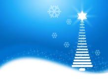 De abstracte Blauwe Achtergrond van Kerstmis Stock Fotografie