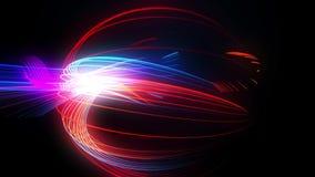 De abstracte blauwe achtergrond van neonlijnen stock videobeelden
