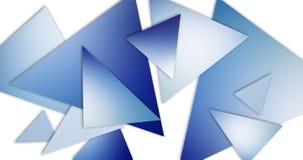 De abstracte blauwe driehoeken op witte achtergrond met zachte vage gradiënt kleuren en 3d schaduweffect vector illustratie