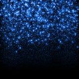 De abstracte blauwe fonkeling schittert achtergrond Royalty-vrije Stock Afbeelding