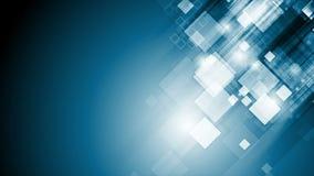 De abstracte blauwe geometrische videoanimatie van technologie stock video