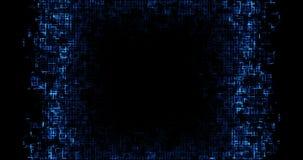 De abstracte blauwe kringscomputer verbindt achtergrond, concept toekomstige technologie en informatie