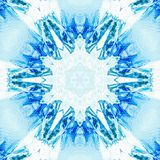 De abstracte blauwe symmetrie van het ijspatroon Behangillustratie vector illustratie