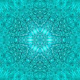 De abstracte blauwe symmetrie van het ijspatroon Ornament royalty-vrije illustratie