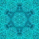 De abstracte blauwe symmetrie van het ijspatroon Ornamentsneeuwvlok stock illustratie
