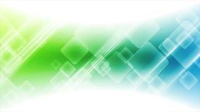 De abstracte blauwgroene geometrische videoanimatie van technologie stock video