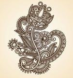 De abstracte Bloemen van Mendie van de Henna Stock Fotografie