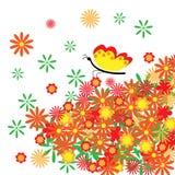 De abstracte bloemenachtergrond. Royalty-vrije Stock Afbeelding