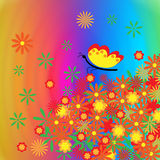 De abstracte bloemenachtergrond. Stock Afbeelding