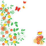 De abstracte bloemenachtergrond. Royalty-vrije Stock Fotografie