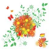 De abstracte bloemenachtergrond. Stock Fotografie