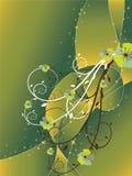 De abstracte bloemenwerveling schittert groen Royalty-vrije Stock Foto