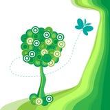 De abstracte boom Als achtergrond. Royalty-vrije Stock Afbeelding