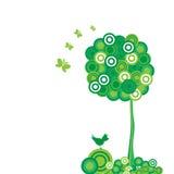 De abstracte boom Als achtergrond. Stock Afbeeldingen