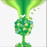 De abstracte boom Als achtergrond. Royalty-vrije Stock Foto