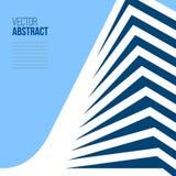 De abstracte bouw met perspectief De dekking van het architectuurboek stock illustratie