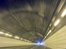 De abstracte brede hoek van de tunnelbaan Stock Afbeelding