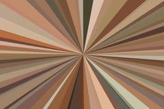 De abstracte bruine achtergrond van koffiestralen Het kleurrijke patroon van de strepenstraal Kleuren van de modieuze illustratie Stock Afbeeldingen