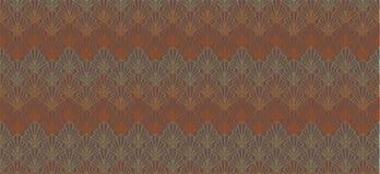 De abstracte bruine geometrische zeeschelpen van de patroonbanner royalty-vrije illustratie