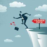 De abstracte Businessmans-carrière neemt Stock Afbeeldingen