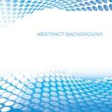 De abstracte cirkel blauwe achtergrond van patroongolven Royalty-vrije Stock Foto's