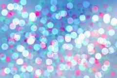 De abstracte cirkels van de achtergrondmengelings blauwe kleur bokeh Stock Foto