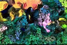 De abstracte computer stileerde decoratieve uitstekende textuur, achtergrondpatroon van grote slagen van verf, kleurrijke compute royalty-vrije illustratie