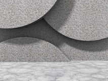 De abstracte concrete achtergrond van de muurarchitectuur Stock Fotografie