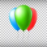 De abstracte creatieve ballon van de concepten vectorvlucht met lint Voor Web en Mobiele die Toepassingen op achtergrond, art. wo Royalty-vrije Stock Fotografie