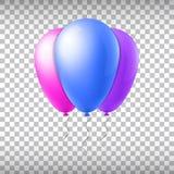De abstracte creatieve ballon van de concepten vectorvlucht met lint Voor Web en Mobiele die Toepassingen op achtergrond, art. wo Stock Fotografie
