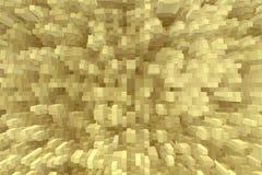 De abstracte 3d kubus drijft achtergrond, geometrische vorm uit vector illustratie