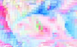 De abstracte 3d kubus drijft achtergrond, grafisch vierkant uit royalty-vrije illustratie