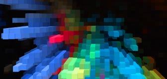 De abstracte 3d kubus drijft achtergrond, kleurrijk behang uit vector illustratie