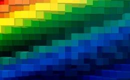 De abstracte 3d kubus drijft achtergrond, kleurrijke technologie uit royalty-vrije illustratie