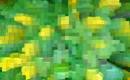 De abstracte 3d kubus drijft achtergrond, stijl uit royalty-vrije illustratie