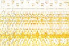 De abstracte 3d kubus drijft achtergrond uit, geeft de illustratie terug royalty-vrije illustratie