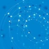 De abstracte 3d netwerk vectorachtergrond, vat conceptuele illustra samen Royalty-vrije Stock Foto