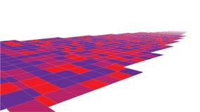 De abstracte 3d oppervlakte kijkt als weg vector illustratie