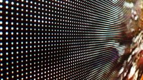 De abstracte Dichte omhoog Heldere gekleurde LEIDENE videomuur abstracte achtergrond van SMD stock footage