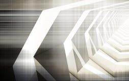 De abstracte digitale achtergrond, high-tech geeft terug Stock Fotografie