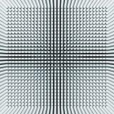 De abstracte digitale achtergrond met lichtblauw keert perspectief om Stock Foto's