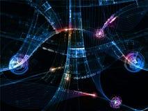 De abstracte Digitale Achtergrond van de Wereld Royalty-vrije Stock Afbeeldingen
